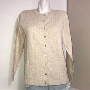 Tradition Champagne Button Down Sweater Cardigan